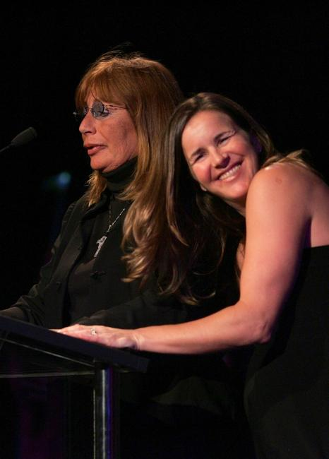 Penny Marshall and Brandi Chastain at the Beverly Hilton Hotel for the inaugural of