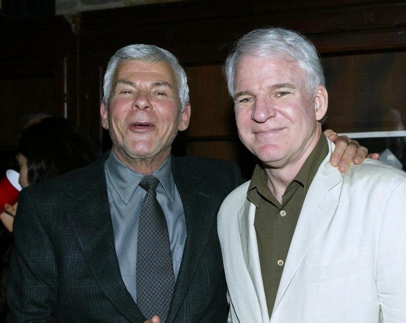 Steve Martin and Ed Limato at the after party for the premiere of his play