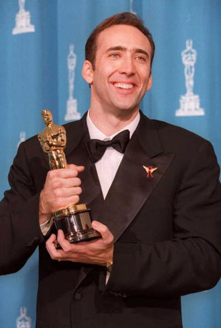 Nicolas Cage at the 68th annual Academy Awards in Los Angeles.