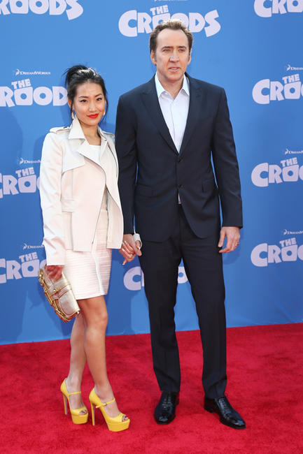 Alice Kim and Nicolas Cage at the New York premiere of