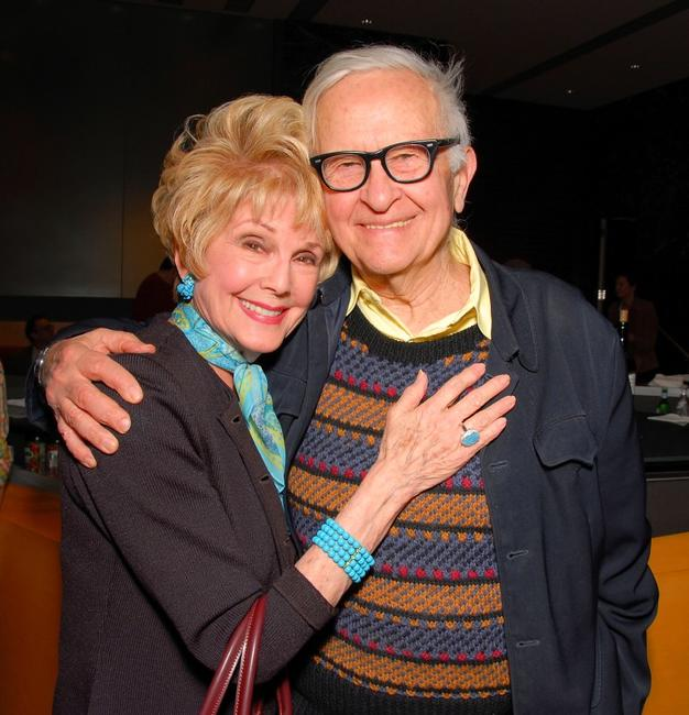 Karen Kramer and Albert Maysles at the Academy of Motion Pictures Arts and Sciences.