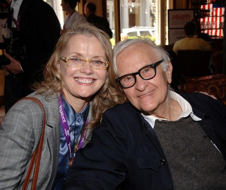 Pat Swinney Kaufman and Albert Maysles at the 2007 Tribeca Film Festival.