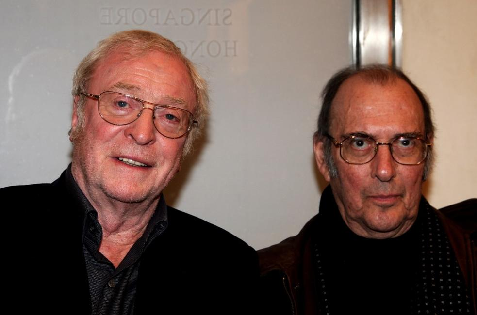 Michael Caine and Harold Pinter at the London Premiere Party of