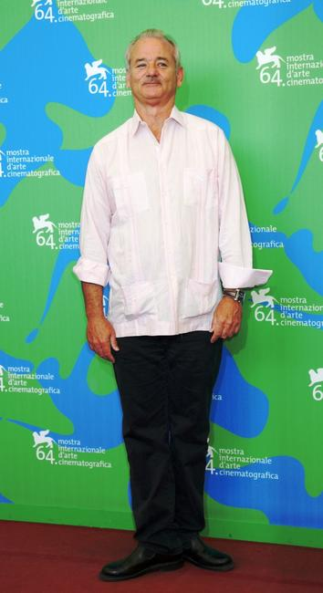Bill Murray at the 64th Venice Film Festival, attends The Darjeeling Limited photocall.