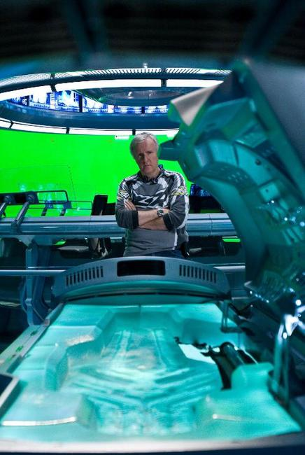 James Cameron on the set of