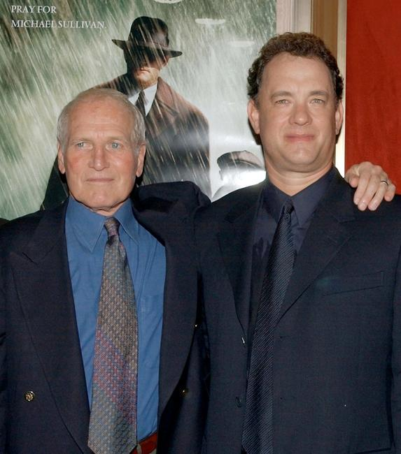 Paul Newman and Tom Hanks at the premiere of