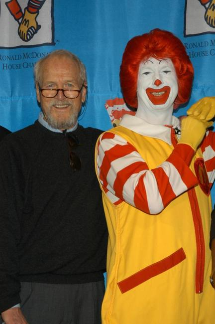Paul Newman at the MacDonald's World Children's Day.
