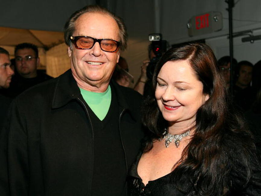Jack Nicholson and designer Jennifer Nicholson at her Fall 2006 show during the Mercedes Benz Fashion Week.