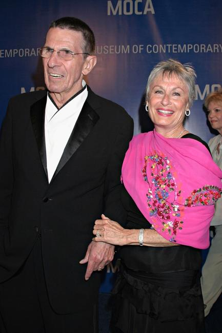 Leonard Nimoy, wife Susan Nimoy at the MOCA 25 Years of Ground Breaking Art Achievements Anniversary Gala.