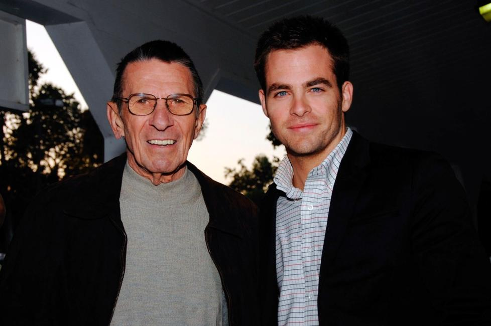 Leonard Nimoy and Chris Pine at the 19th Annual Hollywood Charity Horse Show.