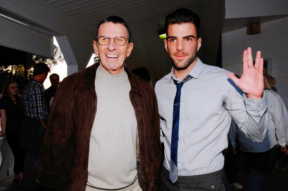 Leonard Nimoy and Zachary Quinto at the 19th Annual Hollywood Charity Horse Show.