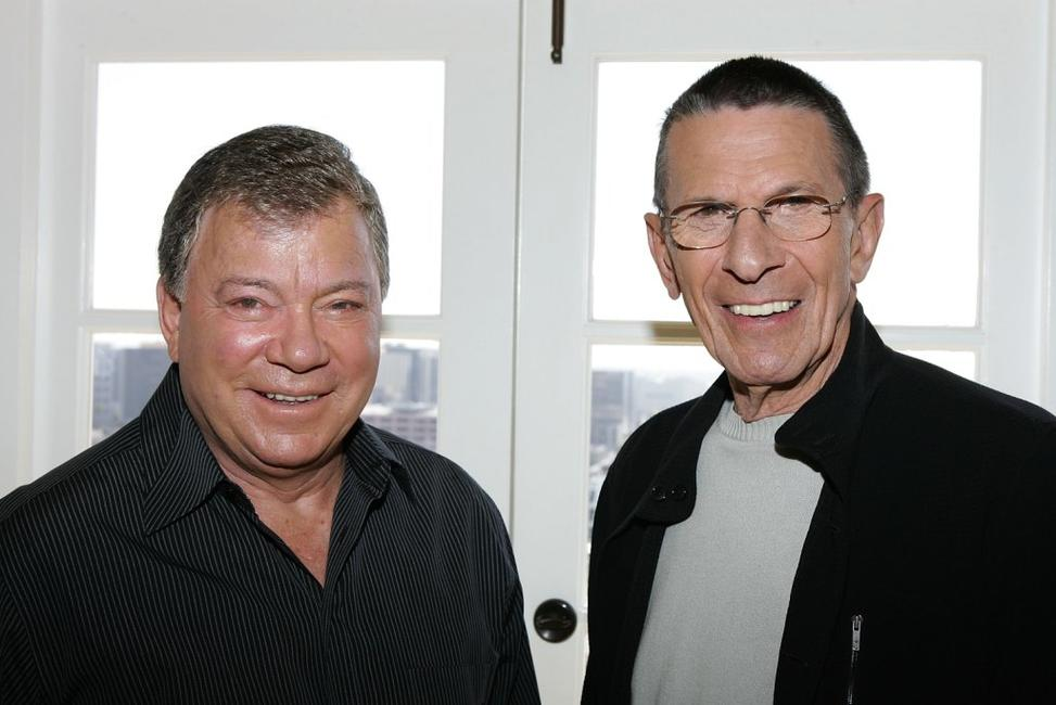Leonard Nimoy and William Shatner at the 40th Anniversary of Star Trek on the TV Land network.