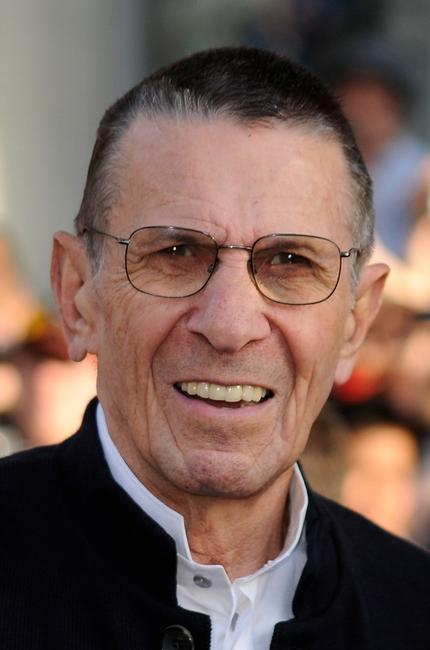Leonard Nimoy at the premiere of