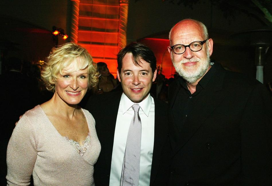 Frank Oz, Glenn Close and Matthew Broderick at the after-party for the premiere of