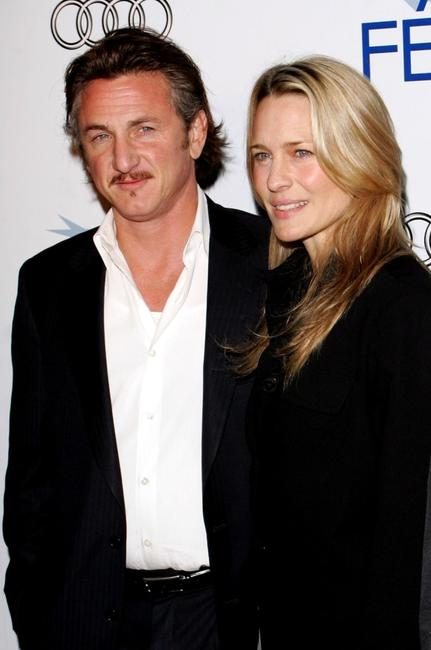 Sean Penn and and his wife Robin Wright Penn at the AFI Fest premiere of