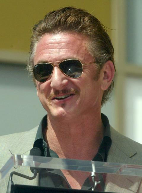 Sean Penn at the Hollywood Walk of Fame.