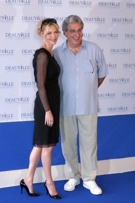Harold Ramis and Connie Nielsen at the 31st Deauville Film Festival photocall of