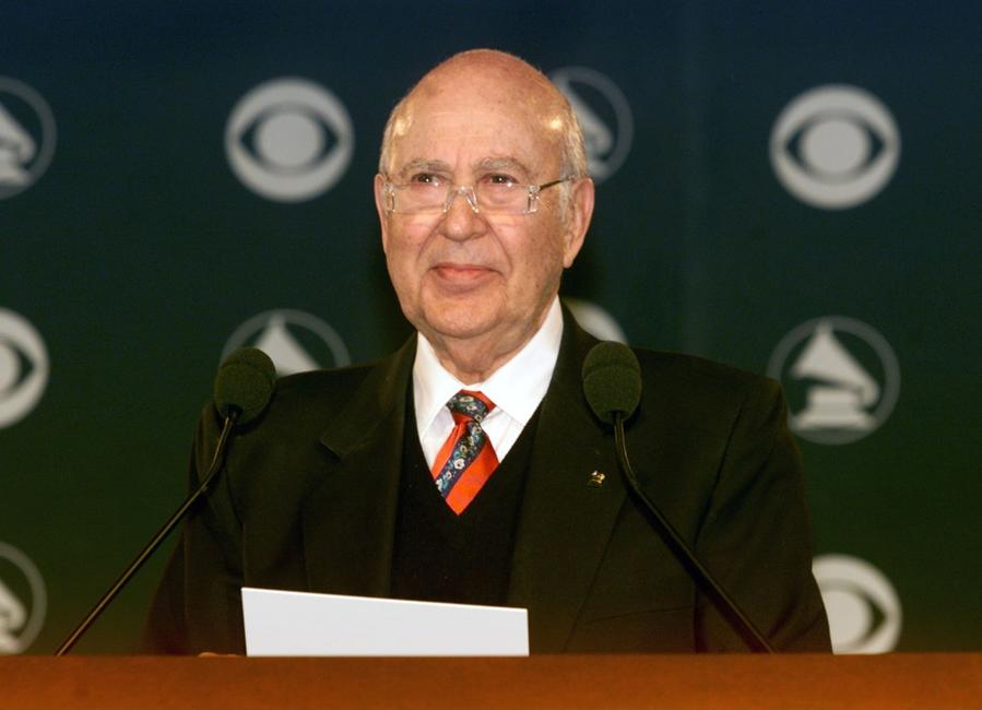 Carl Reiner at the 44th Grammy Nominee Press Conference.