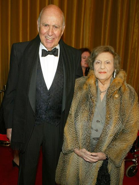 Carl Reiner and wife Estelle Reiner at the 57th Annual DGA Awards Dinner.