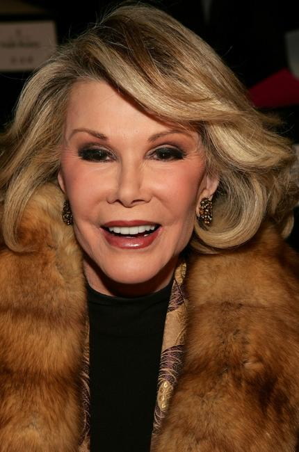 Joan Rivers at the Bill Blass Fall 2007 fashion show during the Mercedes-Benz Fashion Week.