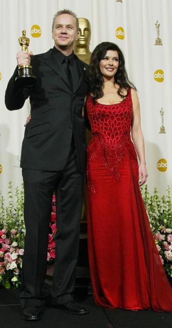 Tim Robbins and Catherine Zeta-Jones at the 76th Annual Academy Awards.