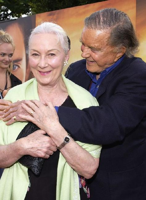 Cliff Robertson and Rosemary Harris at the Los Angeles Premiere of