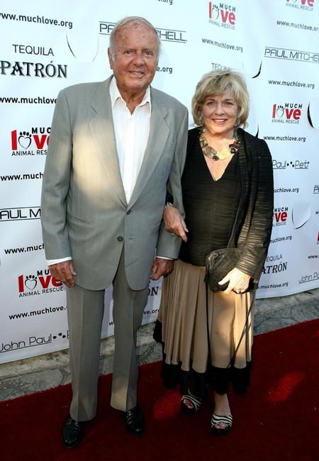 Mickey Rooney and Jan Rooney at the Much Love Animal Rescues Bow Wow Ciao Benefit.
