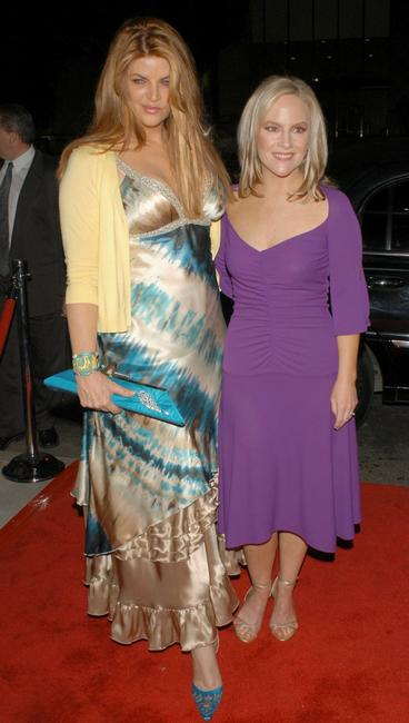 Kirstie Alley and Rachael Harris at the premiere of