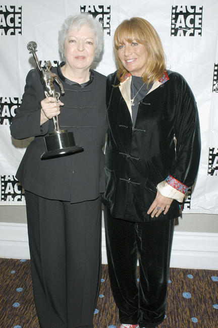 Thelma Schoonmaker and Penny Marshall at the 55th ACE Eddie Awards in California.