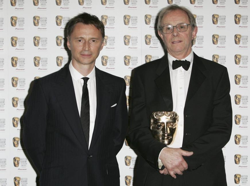 Robert Carlyle and Ken Loach at the Pioneer British Academy Television Awards 2006.