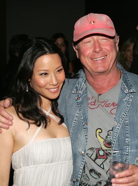 Lucy Liu and Tony Scott at the after party of California premiere of