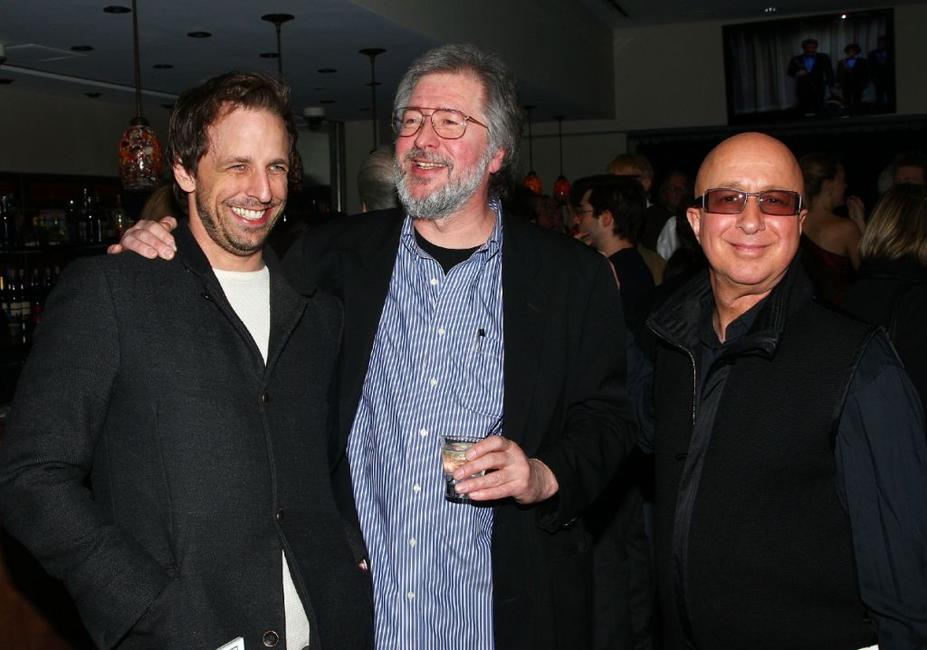 Seth Meyers, Tom Davis and Paul Shaffer at the Tom Davis' book release party celebration.