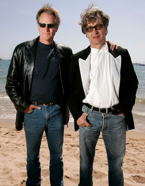 Sam Shepard and Wim Wenders at the promotion of the film