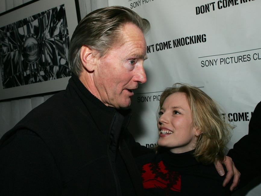 Sam Shepard and Sarah Polley at the premiere of