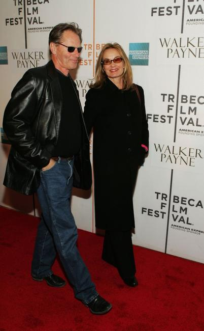 Sam Shepard and Jessica Lange at the premiere of
