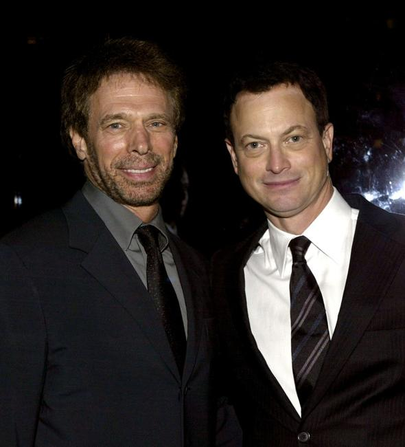 Gary Sinise and Jerry Bruckheimer at the premiere screening of