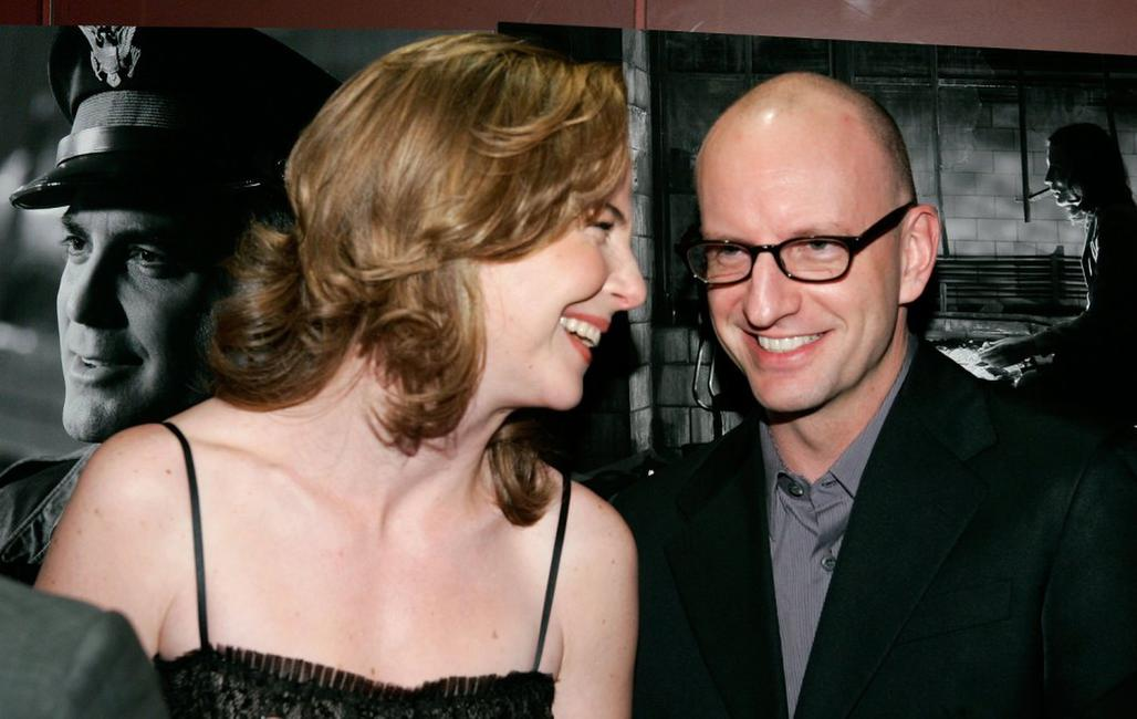 Steven Soderbergh and Robin Weigert at the premier of the film
