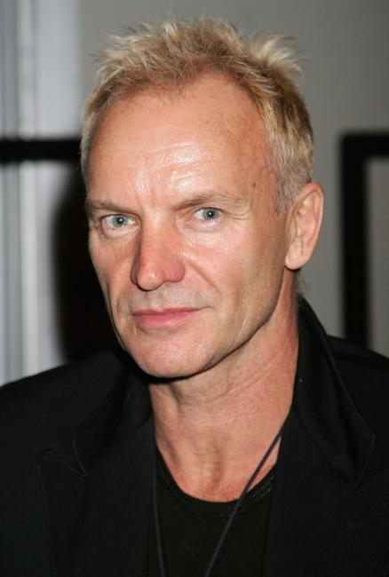 Sting at the Fashion For Relief during the London Fashion Week 2007.