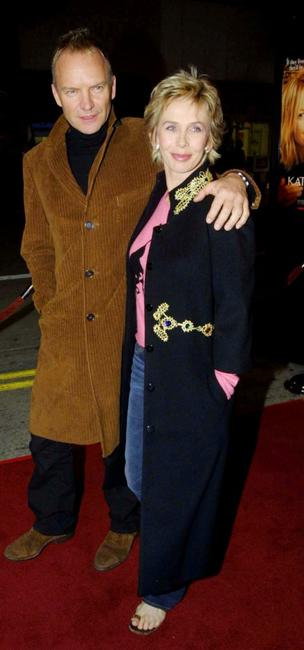 Sting and his wife Trudie Styler at the premiere of