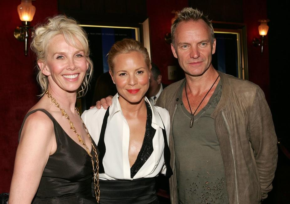 Trudie Styler, Maria Bello and Sting at the world premiere of