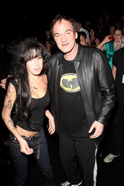 Quentin Tarantino and Amy Winehouse at the Music Of Black Origin (MOBO) Awards.