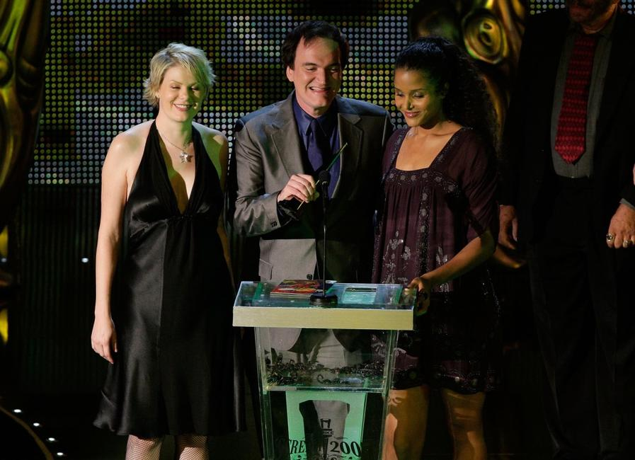 Quentin Tarantino, Monica Staggs and Sydney Tamiia Poitier at the Spike TV's