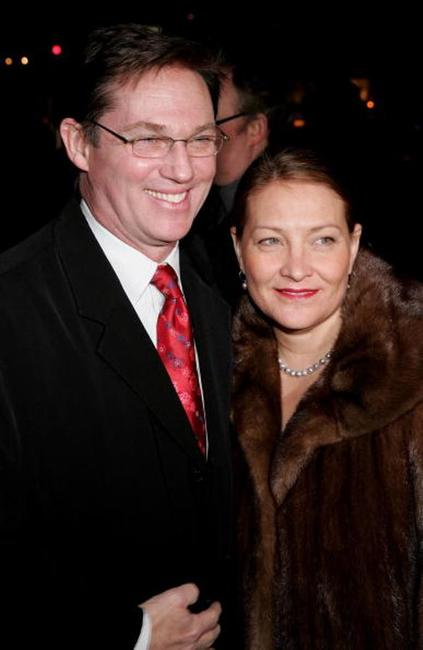 Richard Thomas and Georgiana Bischoff at the opening night of