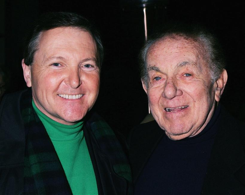 Jack Carter and Fred Travalena at the celebrity opening night for comedian Steve Soloman's one-man show