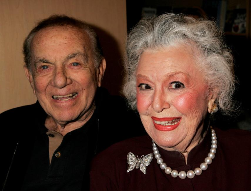 Jack Carter and Ann Rutherford at the Los Angeles premiere book signing of Ben Alba's