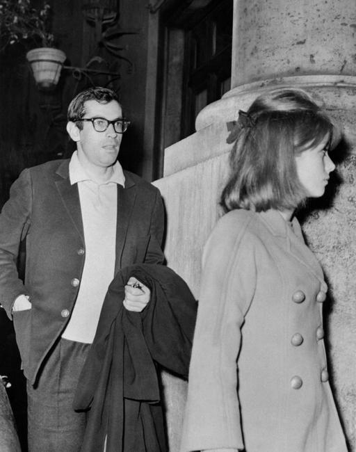 French director Roger Vadim and French actress Catherine Deneuve at the Paris circa 1963.