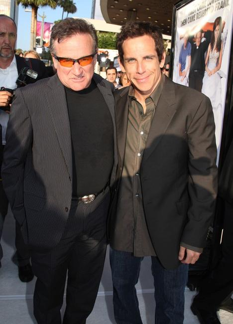 Robin Williams and Ben Stiller at the premiere of the film