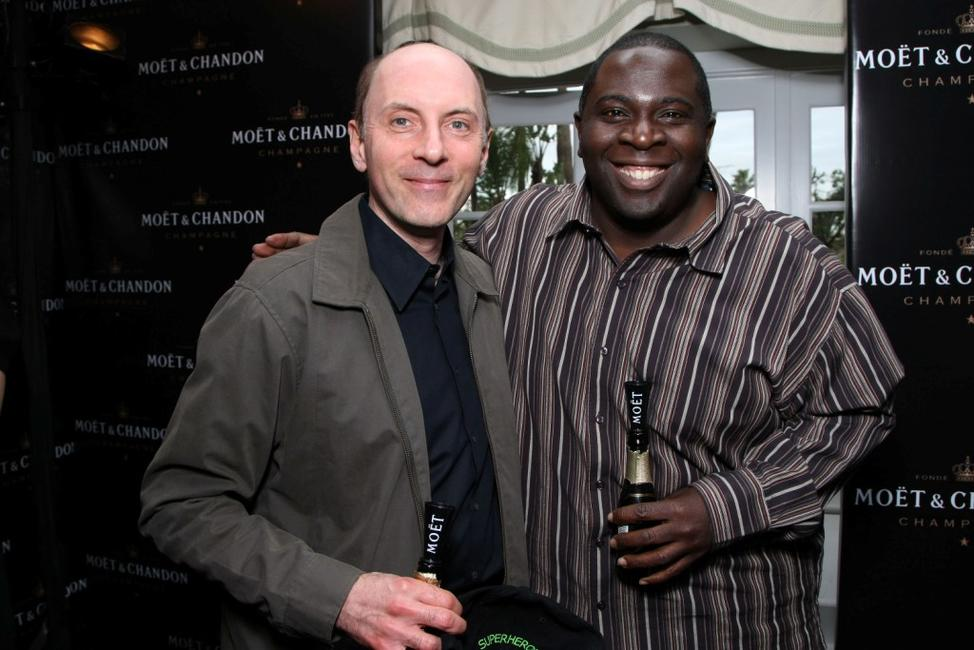 Dan Castellaneta and Gary Anthony Williams at the Moet & Chandon suite in honor of the 2008 SAG Awards.