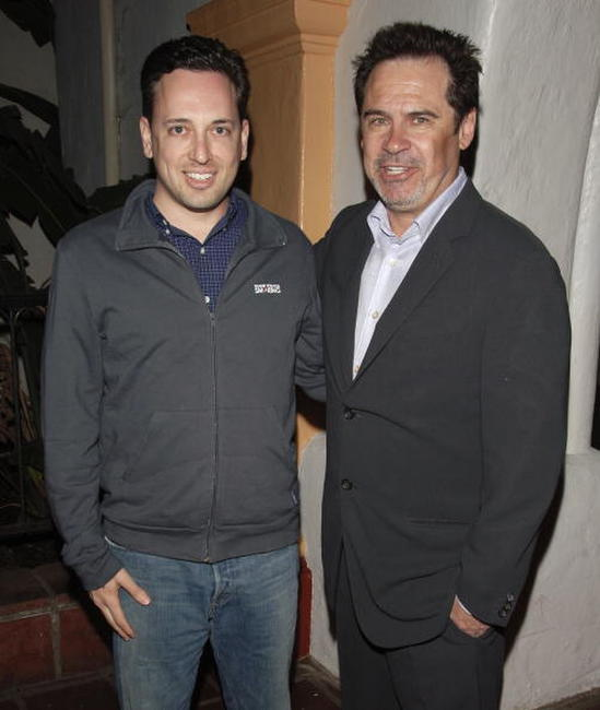 David O. Sacks and Dennis Miller at the premiere of