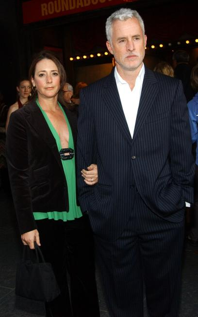 John Slattery and wife Talia Balsam at the opening of